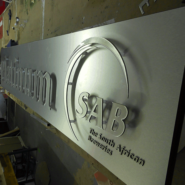 Box & Cut Lettering - SA Breweries - Screenline Screen & Digital Printing