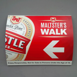 Directional Signage - Castle Lager - Screenline Screen & Digital Printing