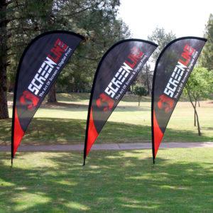 Sharkfin banners - Golf Day - Screenline