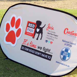 Pop-Up Banner - Cardies Red Paw Project - Screenline