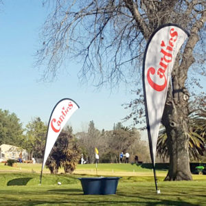 Sharkfin banners - Cardies Golf Day - Screenline