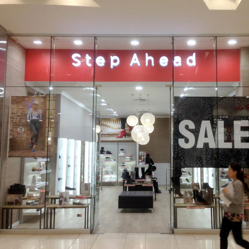Retail & Store Branding - Step Ahead - Screenline