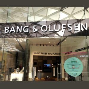 Box & cut Lettering - Bang & Olufsen - Screenline