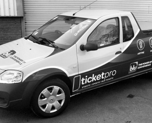 Vehicle branding - ticketpro - Screenline