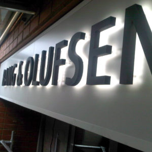 Box & Cut Lettering - Bang & Olufsen - Mall of Africa